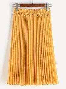 Falda media con fuelle de cintura elástica