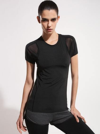 Active Mesh Paneled Gym T-Shirt