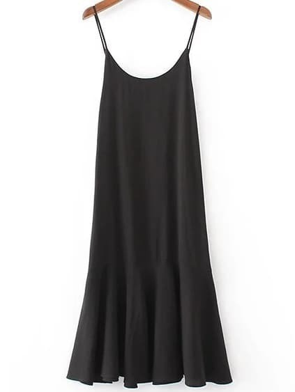 Cami Straps Dropped Waist Dress