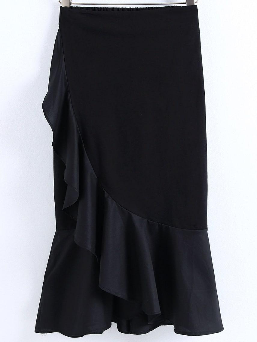 ruffle layered maxi skirt