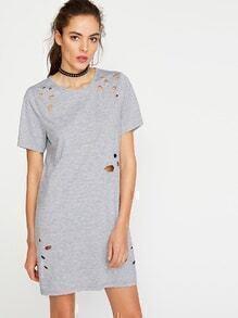 Vestido estilo roto - gris