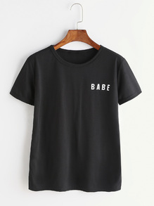 T-shirt imprimé lettre