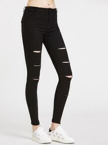 Pantalones ajustados rotos