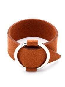 Contrast Ring Buckle Bracelet