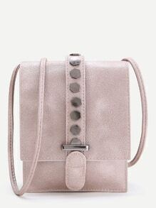Studded Buckle Crossbody Pouch