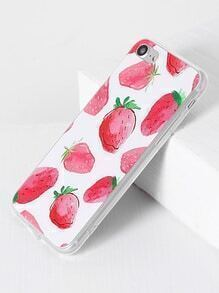Funda para iPhone 7 con estampado de fresa