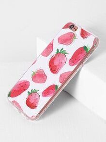 Strawberry Print iPhone 6/6s Case