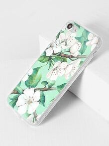 Funda para iPhone 7 con estampado de flor y hoja