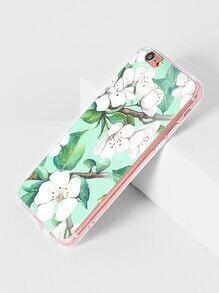 Funda para iPhone 6/6s con estampado de flor y hoja