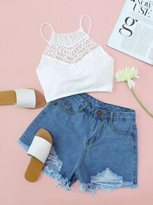 Shorts roto en denim