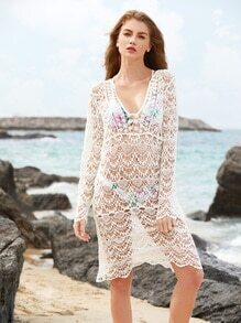 Hollow Out Crochet Lace Cover Up