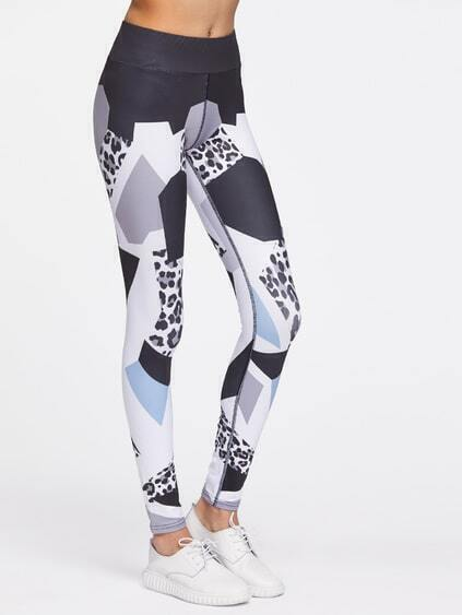 Geometric Print Sports Leggings