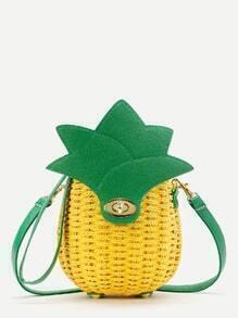 Ananas en forme de paille Sac bandoulière