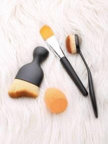3Pcs Make-up Pinsel mit Puff