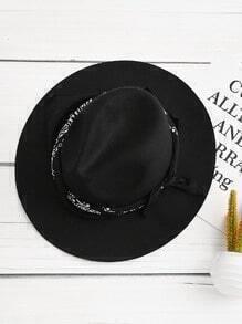 Sombrero fedora con cordón