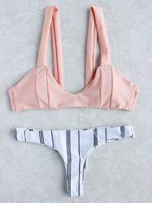 Sets de bikini de rayas verticales