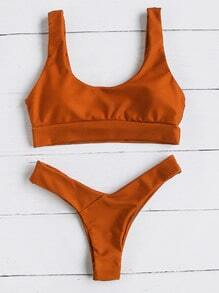 Double Scoop Neck Bikini Set