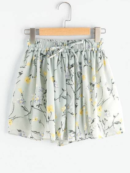 Shorts puckered drucken Daisy Meadows Tunnelzug