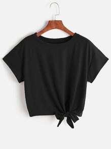 Camiseta con nudo delantero