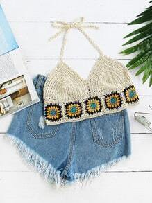 Stylish Crochet Halter Top