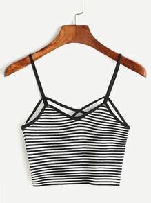 Crisscross Striped Cami Top