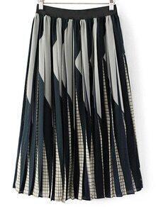 Jupe plissée à la taille élastique