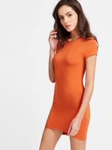 Vestido asimétrico entallado - naranja