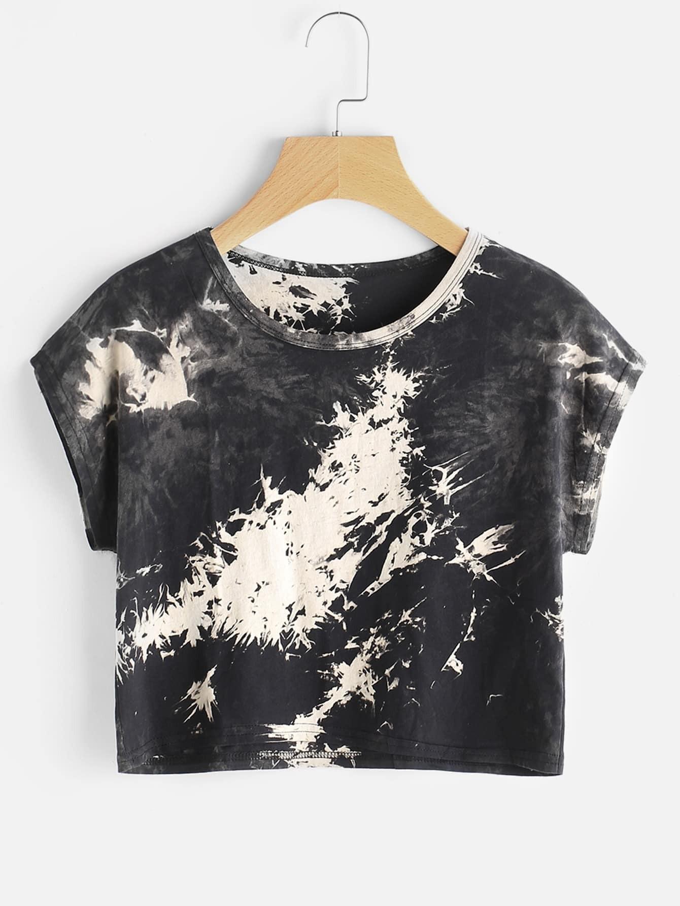 Tie Dye Crop T-shirt