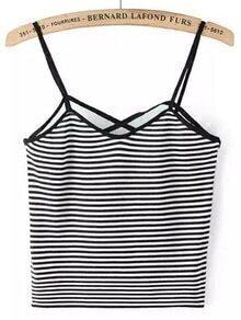 Contrast Striped Cami Top