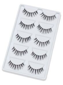 Slender False Eyelashes 5 Pair