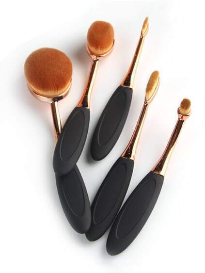 Oval Zahnbürste geformt Make-up Pinsel Set