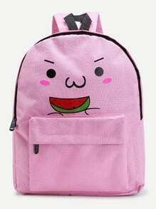 Watermelon Cartoon Print Backpack