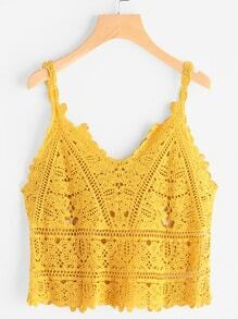 Hollow Out Crochet Cami Top