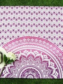 Manta playera con estampado de flor de loto