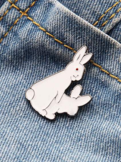Cute Bunny Shaped Brooch