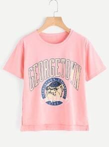 Tee-shirt imprimé avec fourche