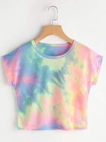 Aquarell T-shirt mit Fledermausärmel