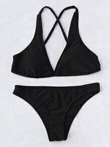 Cross-Back Beach Ensemble de bikini