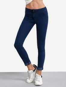 Roll Hem Skinny Jeans