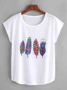 Camiseta con estampado de mangas dolman
