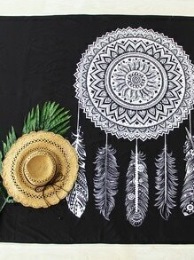Dreamcatcher Print Beach Blanket