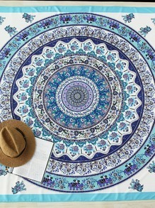 Graphic Print Boho Beach Decke