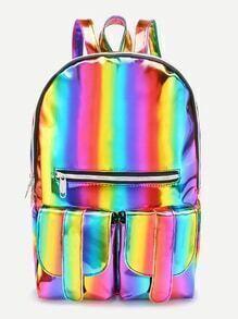 Sac à dos zippé et sac à dos iridescent