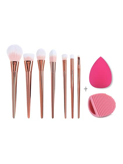 Make-up Pinsel Set mit Puff