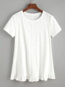 bas chemise à froufrous - Blanc