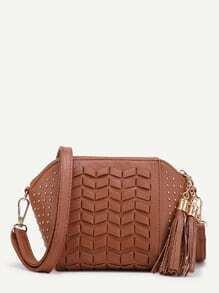 Buy Beaded Detail Tassel Shoulder Bag