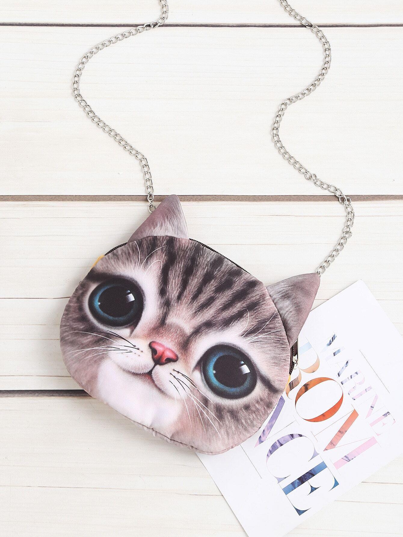 Cat Shaped Crossbody Bag