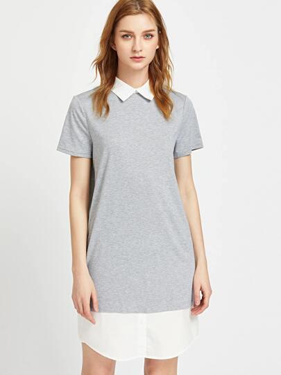 Серое платье мода