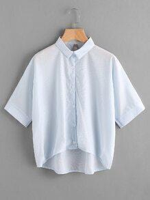 Blusa asimétrica oversize