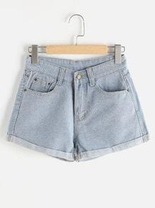 Shorts con vuelta con espalda desgastada